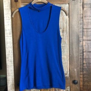Express top, size small, blue